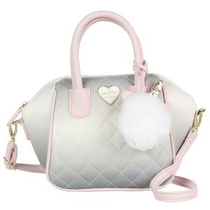 Betsey Johnson MINI SATCHEL SILVER/PINK